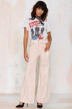 Vintage Washout Studded Jeans - Vintage