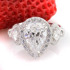 5.03ct Pear Shaped Diamond Engagement Anniversary Ring love love love this!!