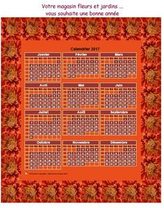 Calendrier décoratif annuel à imprimer avec cadre photo, format variable, 3…