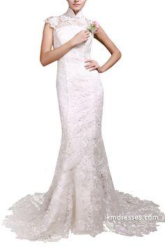 http://www.ikmdresses.com/Women-High-Neck-Hollow-Open-Back-Lace-Sheath-Bridal-Gown-Floor-Length-Court-Train-Wedding-Dresses-p88729