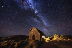 The Church of the Good Shepherd on the shores of Lake Tekapo in New Zealand. At Church Photo by Mark Gee — National Geographic Your Shot