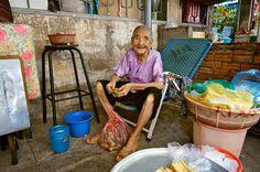 Old Granny in Ho Chi Minh City, Vietnam