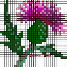 thistle flower cross stitch charts