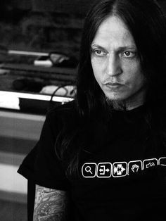 Peter Tagtgren (Pain/Hypocrisy). Multitalented musician/producer, owns a village in his native Sweden, friendly & down-to-earth guy, happy drunk - plus a real Scandinavian man to boot. \m/