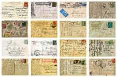 Cool download of 32 vintage postcard images. Wonder what we could do with this...