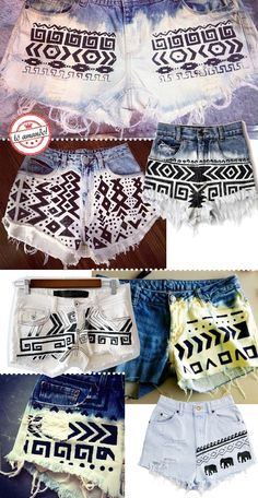 sharpie and bleach a great combination for diy shorts