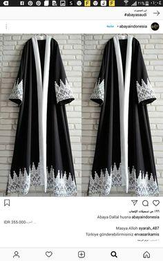 Niqab Fashion, Batik Fashion, Abaya Designs Dubai, Abaya Pattern, Black Hijab, Modele Hijab, Eid Outfits, Kaftan Style, Mode Abaya