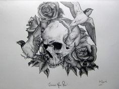 Skull sketch.