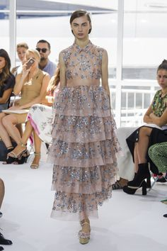 Romantic floral ruffle dress by Delpozo @ New York Fashion Week Spring Summer '16 #fashionweek #delpozo #rendezvousdelamode #couture #floral #dress