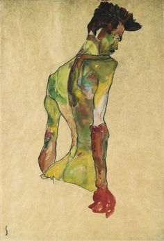 Egon Schiele... one of the godfathers of fashion illustration.