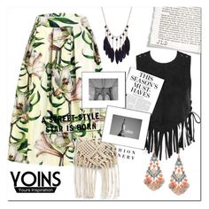 """""""Yoins"""" by little2amsterdam ❤ liked on Polyvore featuring Karl Lagerfeld, H&M, yoins, loveyoins and packforcoachella"""