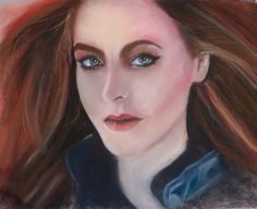 'Kari' by Maria Smith. Faber Castell pastel pencils & Faber Castell soft pastels on Daler Rowney Ingres pastel paper. A3 (12 X 16 inches) Reference photo from Paint my Photo By Alex Lee Johnson of his makeup artist Kari