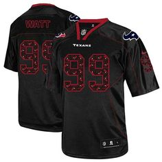 New Men s Lights Out Black Nike Game Houston Texans  99 J.J. Watt NFL Jersey   52b8ced1e