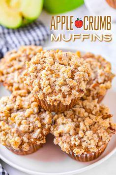 Cinnamon Muffins, Apple Muffins, Apple Breakfast, Fall Breakfast, Breakfast Recipes, Muffin Recipes, Apple Recipes, Apple Pie Dip, Apple Crumb