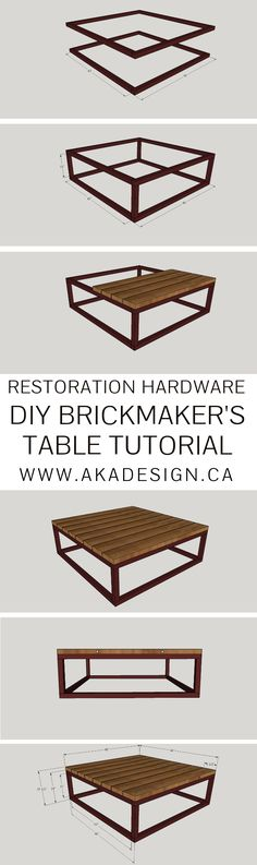 RESTORATION HARDWARE DIY BRICKMAKER'S TABLE TUTORIAL | WWW.AKADESIGN.CA
