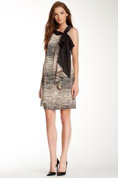 Tie Neck Day Dress ++