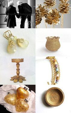 """My Yellow Chalcedony Bubble Earrings featured in this """"Golden Years"""" collection! #jewelryonetsy #designsbycher --Pinned with TreasuryPin.com"""