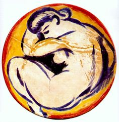 Henri Matisse (French, Fauvism, 1869-1954). 1907, Plate avec figure nue