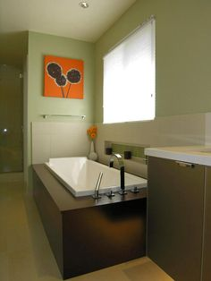 Pops of Color - Cool Teen Bathrooms on HGTV