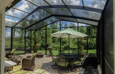 new patio 2016 Enclosed Patio Cost Patio Screen Enclosure, Screen Enclosures, Patio Enclosures, Enclosed Patio, Screened In Patio, Lanai Porch, Patio Design, House Design, Backyard Designs