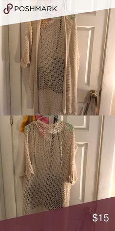 Brandy Melville beige cardigan. Barely worn Beige cardigan from Brandy Melville. Only worn a few times. One size and in great condition. Brandy Melville Sweaters Cardigans