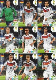 FIFA World Cup 2014 Brazil Adrenalyn XL Germany (Deutschland) Base Card Team Set  //Price: $ & FREE Shipping //     #sports #sport #active #fit #football #soccer #basketball #ball #gametime   #fun #game #games #crowd #fans #play #playing #player #field #green #grass #score   #goal #action #kick #throw #pass #win #winning