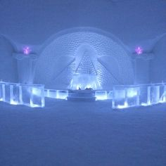 Levi, Lapland - Snow Chapel..... so pretty