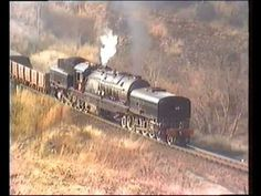 South African Railways Class GL Garratt climbs the grade out of Magaliesburg on a mixed train for photographers on the Trans-Limpopo Steam Safari South African Railways, Vintage Trains, Steam Railway, Steam Engine, Steam Locomotive, Train Tracks, Big Boys, Cape, Engineering