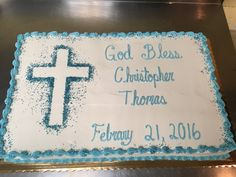 Baptism sheet cake, buttercream