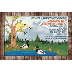 Free Printable Duck Hunting Birthday Invitations