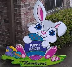 Easter Rabbit Yard Decor Google Search In 2020 With Images