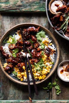 Korean Bulgogi, Asian Recipes, Healthy Recipes, Asian Desserts, Buttered Corn, Good Food, Yummy Food, Tasty, Half Baked Harvest