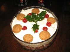 Traditional sherry trifle for a special occasion