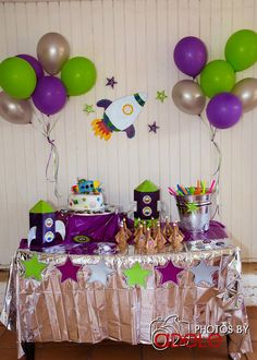 Space Birthday Party Ideas!  See more party ideas at CatchMyParty.com!