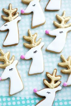 Gilded Reindeer Cookies - Festive Christmas Cookies Recipes