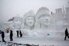 Snow Festival in Harbin, China, which is near the China-Siberia border