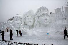 Snow Festival in Harbin, China, which is near the China-Siberia border