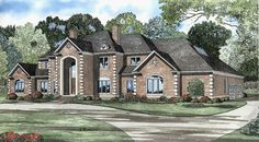 This 2 story European features 6388 sq feet. Call us at 866-214-2242 to talk to a House Plan Specialist about your future dream home!