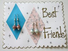 """""""Best Friends"""" Graduating Earring Gift Set by CharmingShop. Limited Edition value set."""