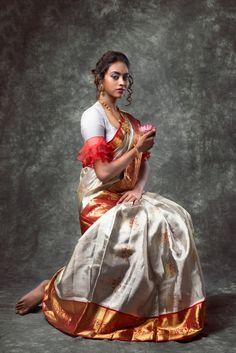 Look book for mugdha_weaves Pattu Saree Blouse Designs, Fancy Blouse Designs, Dress Designs, Khadi Saree, Silk Sarees, Indian Sarees, Bengali Saree, Churidar, Blouse Back Neck Designs