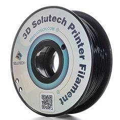 3D Solutech Real Black 1.75mm 3D Printer PLA Filament 2.2 LBS (1.0KG) - 100% USA * Click image for more details. Amazon Affiliate Program's Ads.