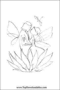 Fairy wedding greeting card diy free wedding printable templates fairy wedding coloring page m4hsunfo