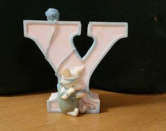 """Classic Winnie the Pooh Piglet Alphabet Letter """"Y"""" Michel & Co. Y for Yarn, Winnie the Pooh Figurines Disney -    Edit Listing  - Etsy Winnie The Pooh Figurines, Vintage Home Decor, Alphabet, Amp, Lettering, Classic, Disney, Etsy, Derby"""