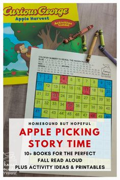 Looking for the perfect fall story time idea? Here's 10+ choices for apple picking read alouds, plus activity suggestions and printables to make learning fun! #readaloudrevival #readaloud #picturebooks #kidlit #storytime #readingextensions #beyondthebook
