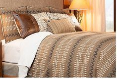 Berry Creek Home ~ Mountain Living Essentials Unmade Bed, Wood River, Guest Cabin, River Lodge, Rustic Bedding, Living Essentials, Mountain Living, Duvet Sets, Bed Covers