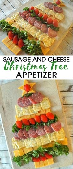 Amazing Holiday Cheese, Cracker and Sausage Christmas Tree Appetizer! Holiday Party Food- Cheese Cracker and Sausage Christmas Tree Appetizer Christmas Tree Food, Christmas Cheese, Christmas Buffet, Christmas Snacks, Christmas Crafts, Christmas Ideas, Christmas Crackers, Christmas Eve Appetizers, Appetizers For Party