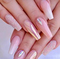 67 acrylic nail designs of glamorous ladies of the summer season 24 ~ IRMA nailsdesign nailsart acrylicnail Light Pink Nail Designs, Light Pink Nails, Sky Nails, Nail Pink, Cute Acrylic Nails, Acrylic Nail Designs, Cute Nails, Nail Art Designs, Perfect Nails