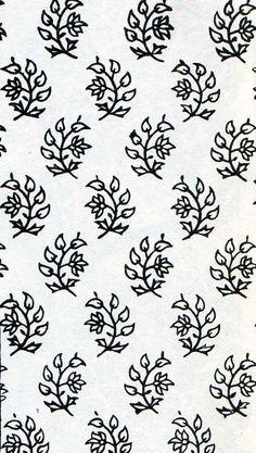 Indian cotton print design, 19th century (The Textile Blog)