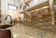 Dura Supreme Cabinetry, Electrolux Appliances, Granite, Bathroom Tile