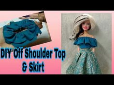 Barbie Et Ken, Barbie Dolls Diy, Barbie Barbie, Barbie Dress, Sewing Barbie Clothes, Barbie Clothes Patterns, Diy Off Shoulder Top, Barbie Knitting Patterns, Diy Barbie Furniture